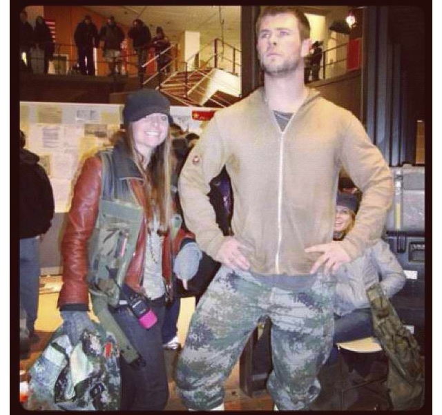 "Chris Hemsworth costumer on ""Red Dawn"""
