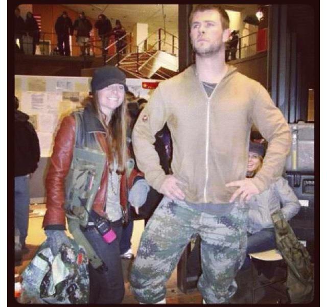"Chris Hemsworth costumer on ""Red Dawn"""