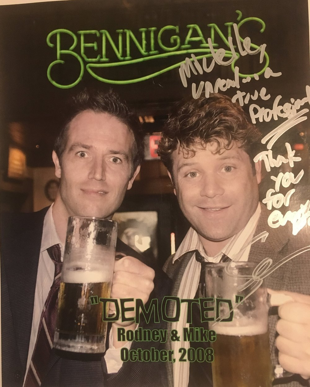 "Set Costumer to Sean Astin & Michael Vartan on ""Demoted"""