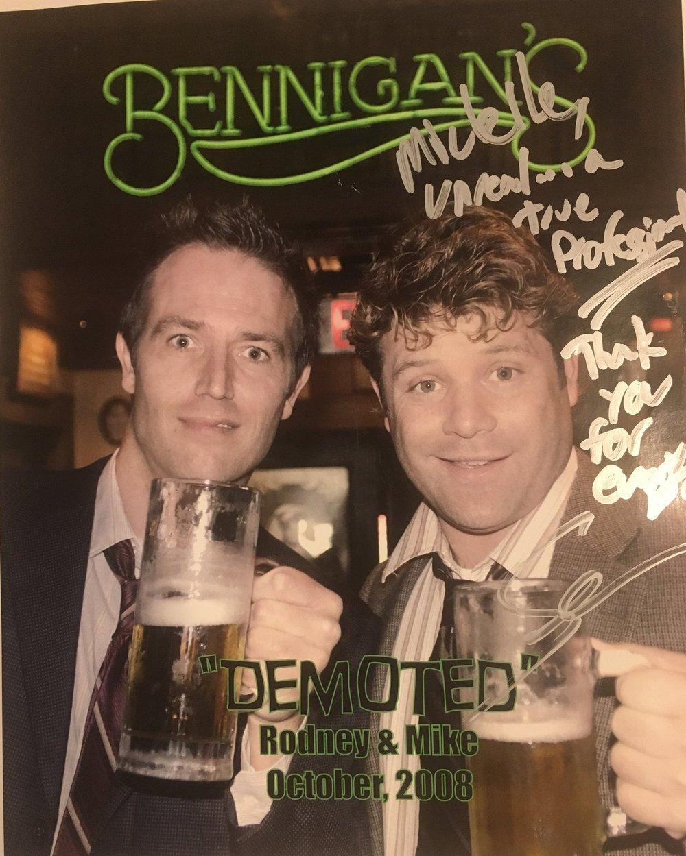 "Set Costumer to Sean Astin & Michael Vartan on ""Demoted"""