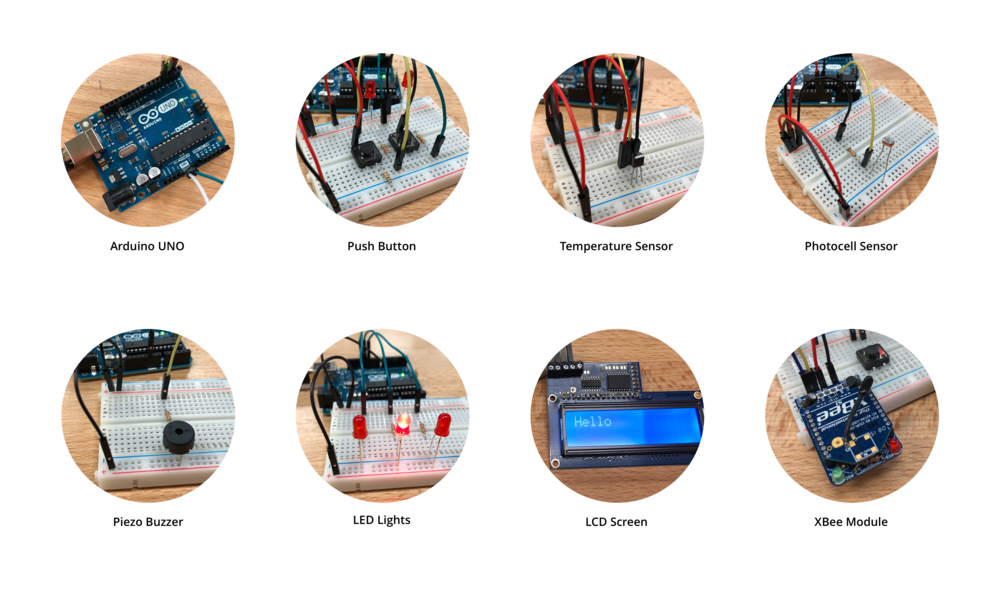 I started the project exploring individual hardware builds to familiarize myself with the Arduino IDE, and the various types of digital and analog inputs.
