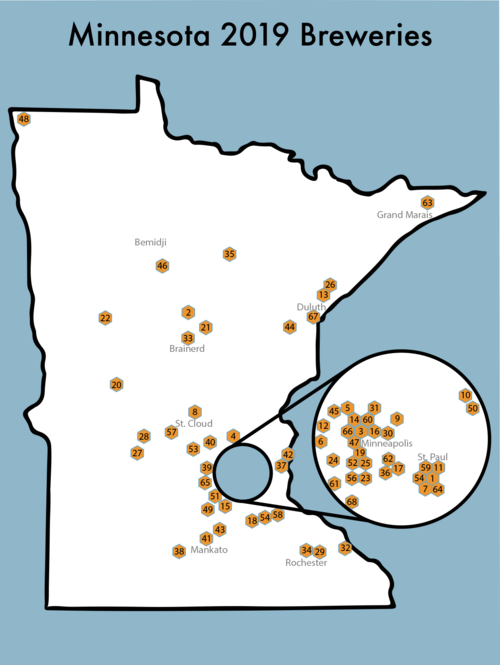 Minnesota Map Png.2019 Minnesota Hop Passport Hop Passport