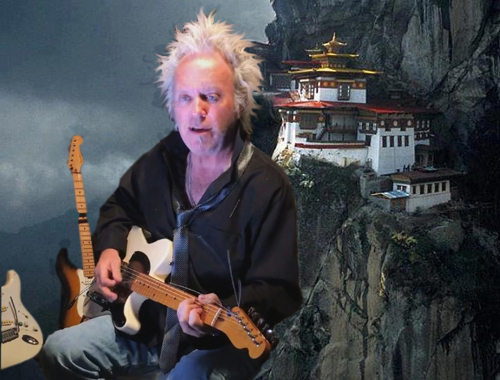 Phil playing in the Himalayas