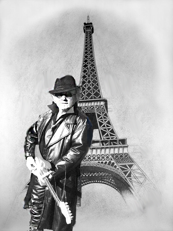 Drawing of Phil & Eiffel Tower