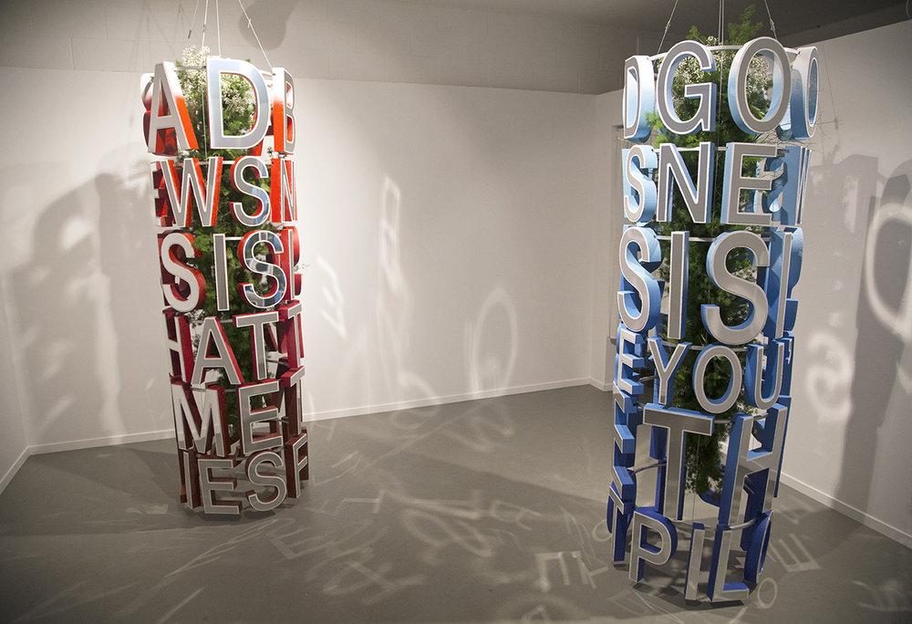Artists Cosmo Dean and Trevor Wheatley create  Listen Close,  an instillation on view inside Public Land Gallery in Sacramento, CA.
