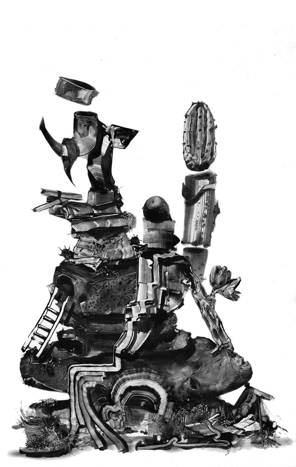 Grady Gordon monotype print