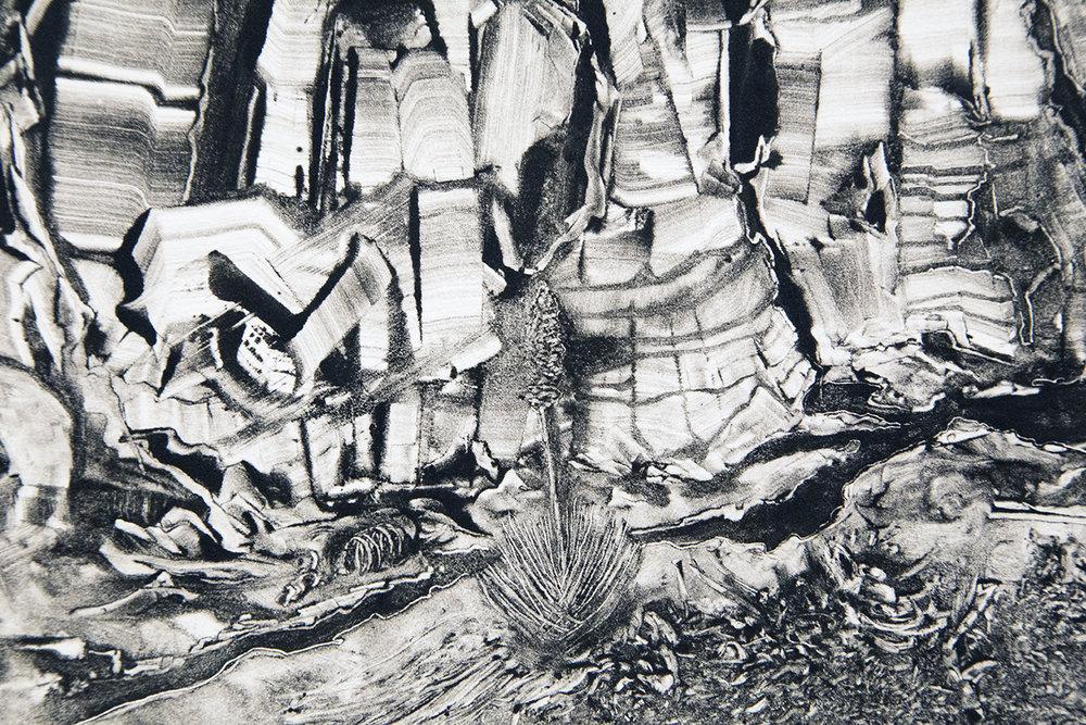 Grady Gordon monotype detail