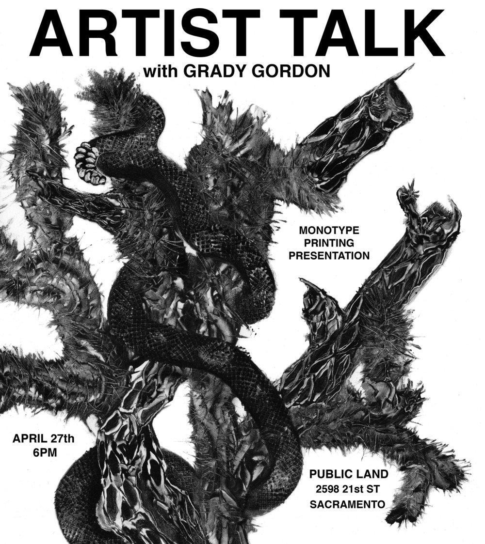 Grady Gordon artist talk at Sacramento gallery