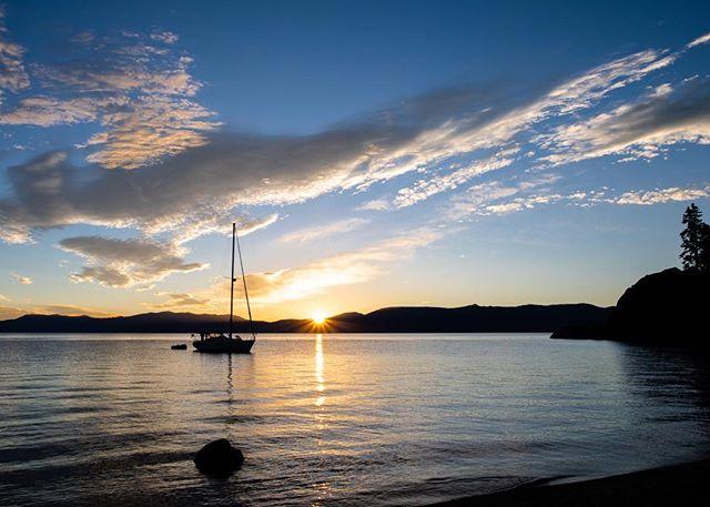 Sunrise at Lake Tahoe.