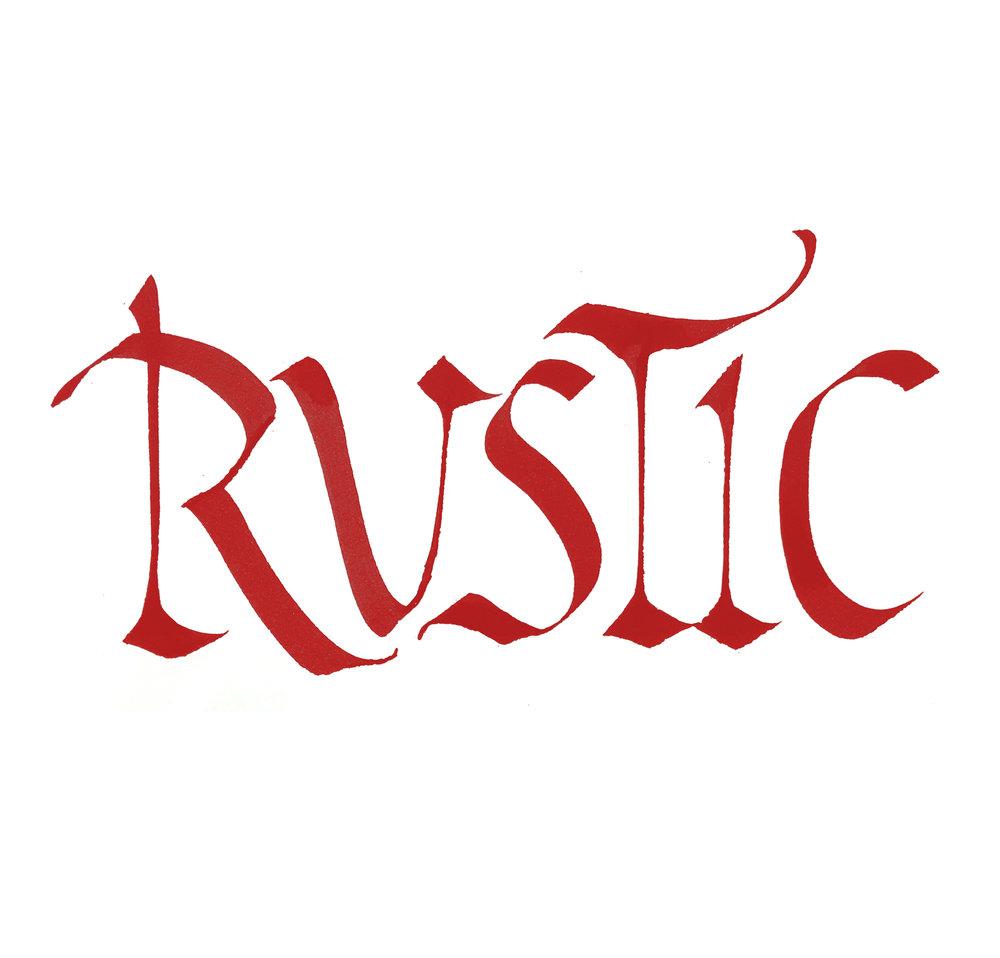Rustics // calligraphy by Chavelli www.idrawletters.com