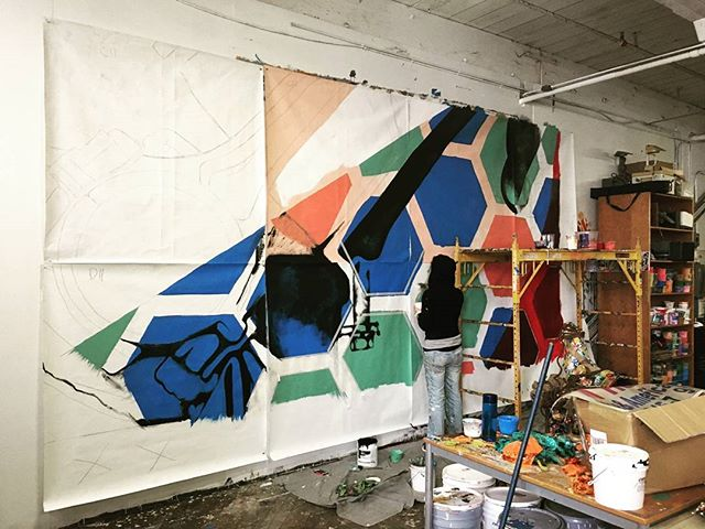 Mural in the works! Artsy shanangans between #Detroit and #philadelphia. More info to come...
