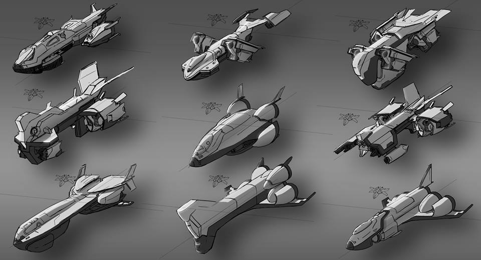 The drop ship. Able to carry heavy cargo. A transport for crew, exploration.