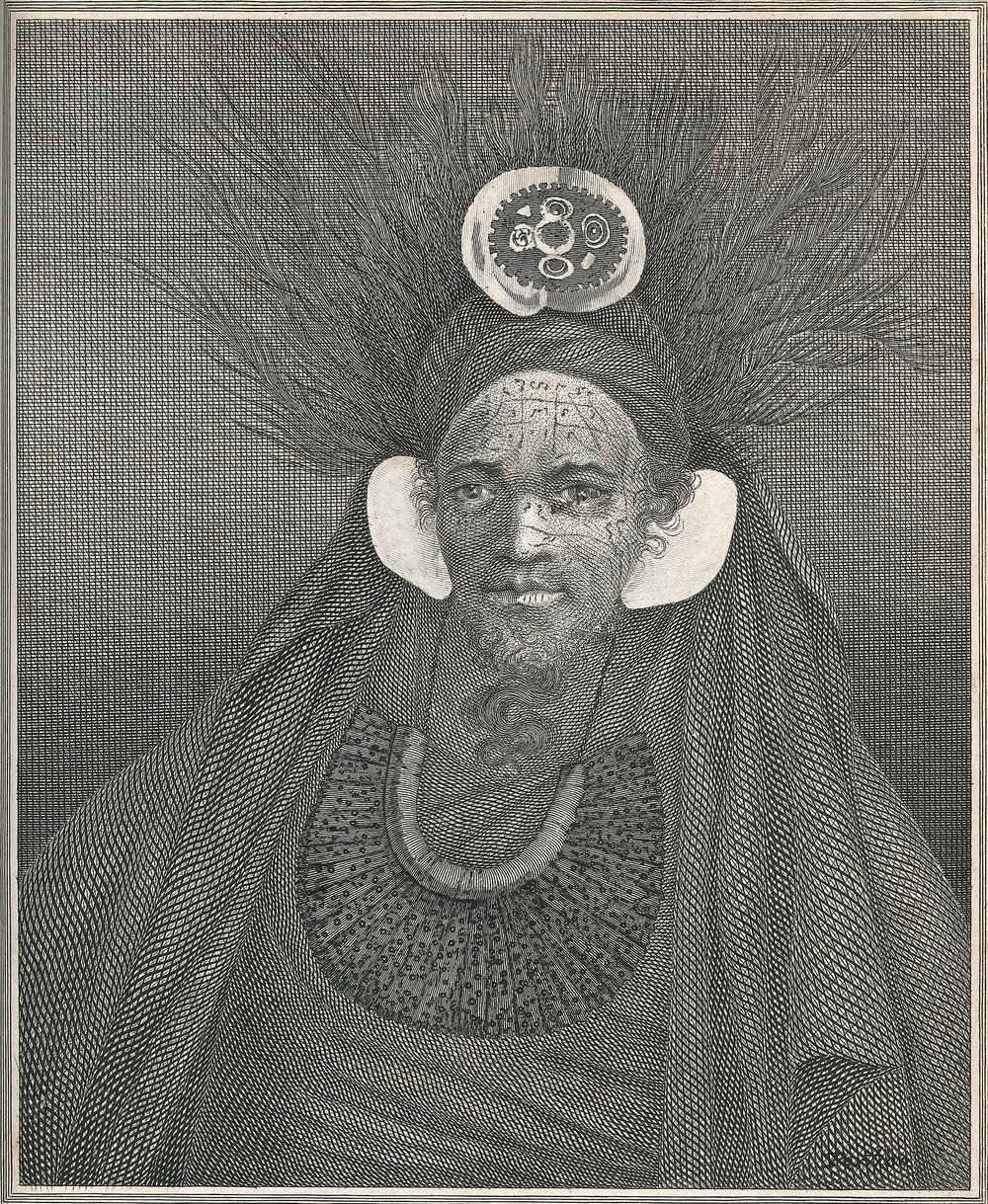 Chief at Santa Christina , engraving, William Hodges, 1777
