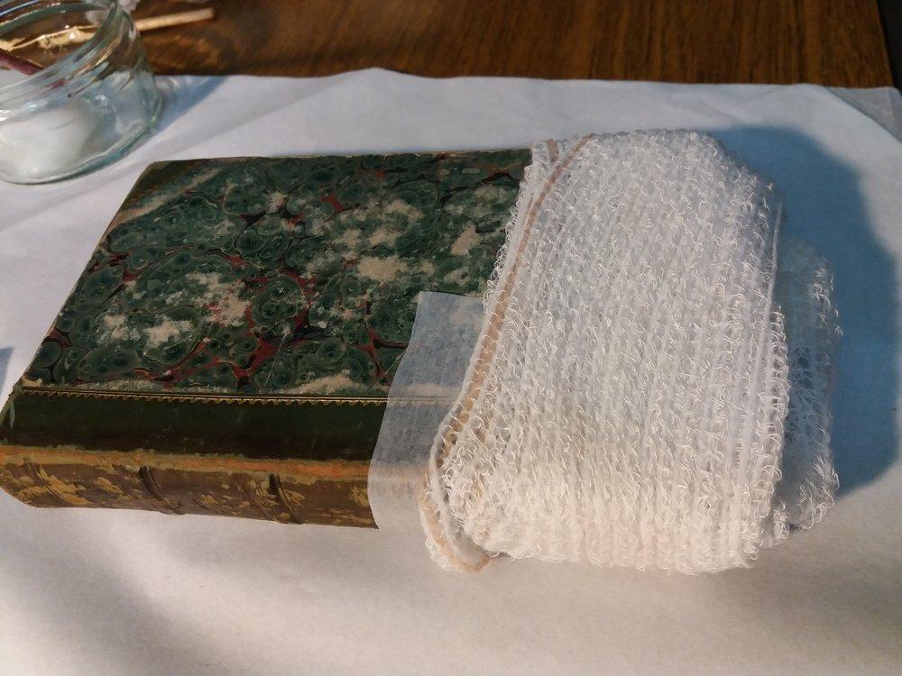 The bandaged book.