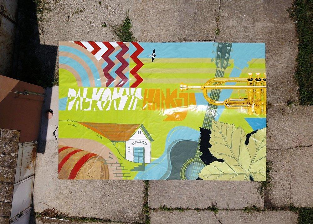palkonya hangja dekorációs festés molinó festés falfestmény  tűzfalfestmény falfestmény