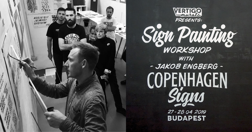 Sign painting workshop Budapest 27-28 04 2019