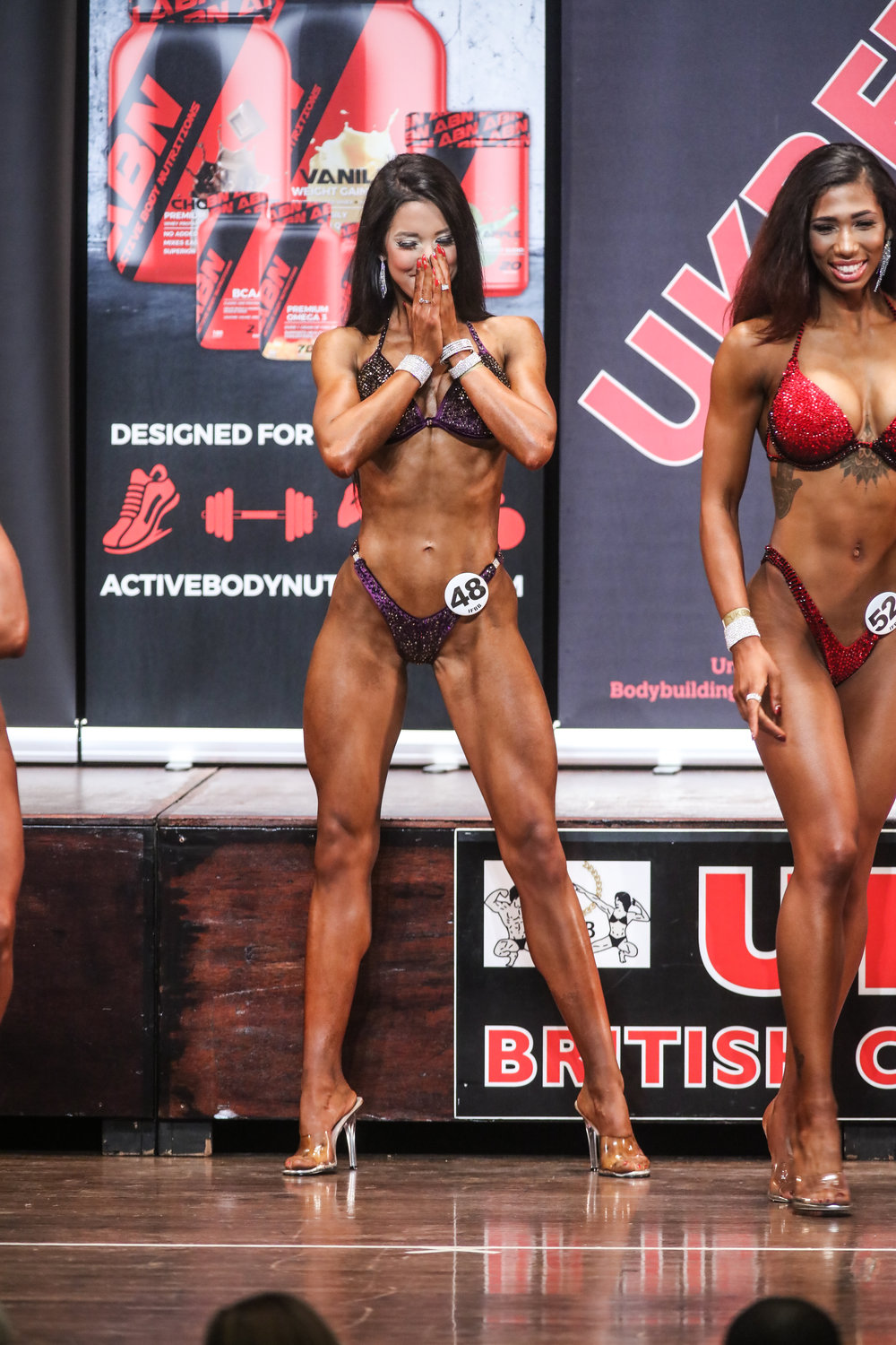 The moment Marta was announced British champion in junior bikini fitness last year. PHOTO: Christopher Bailey