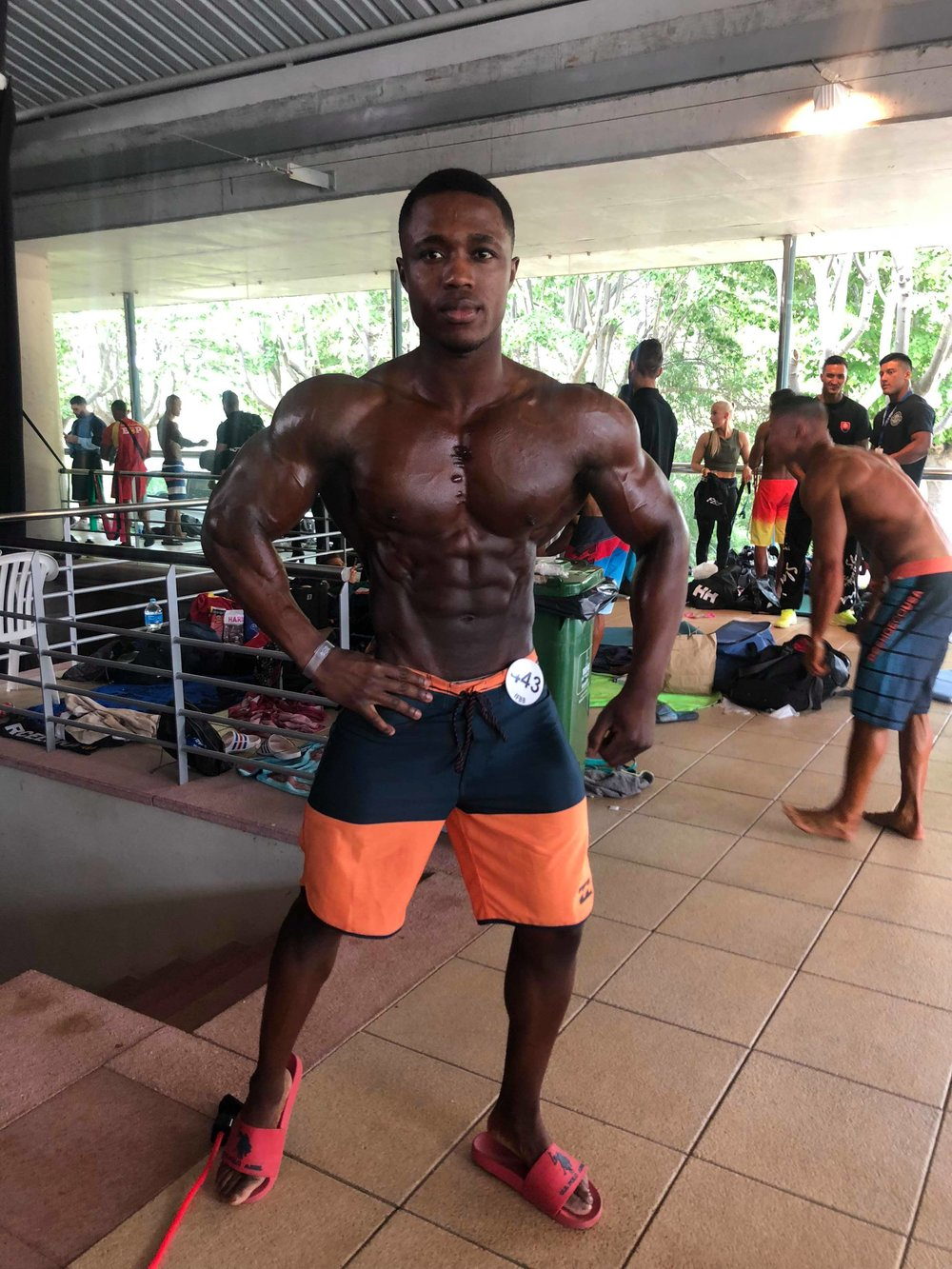 Isaac Francis claimed silver in his men's physique open class.