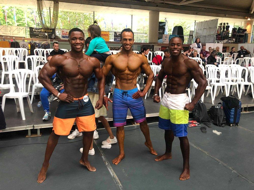 UK team members (from left) Isaac Francis, Abdulrahman Aloumi and Dave Walters/