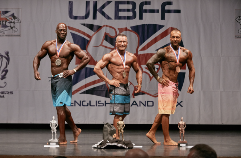 Rob Thurston wins masters men's physique. PHOTO: Christopher Bailey