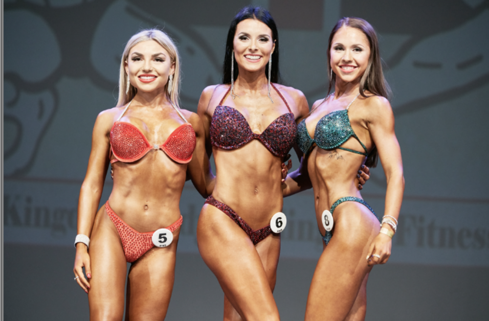 Junior bikini fitness top 3. PHOTO: Christopher Bailey