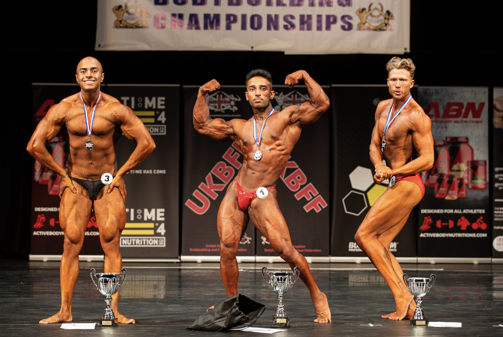 Hamzah Bondary wins junior bodybuilding. PHOTO: Kevin Horton