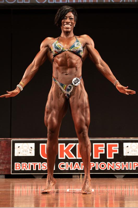 New women's physique IFBB Elite Pro Andrea Corbett. PHOTO: Kevin Horton