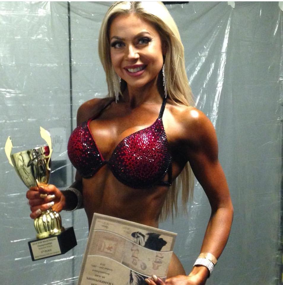 Lisa-Marie Graham displays her latest trophy.