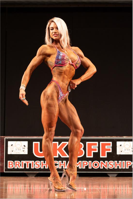 Kristie Sanderson - new British IFBB Elite Pro in bodyfitness. PHOTO: Kevin Horton
