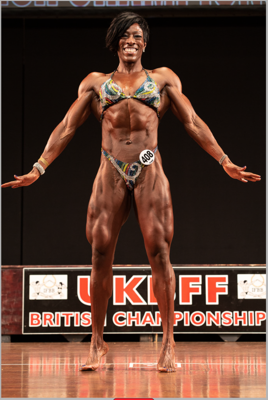 Andrea Corbett - new British IFBB Elite Pro in women's physique. PHOTO: Kevin Horton