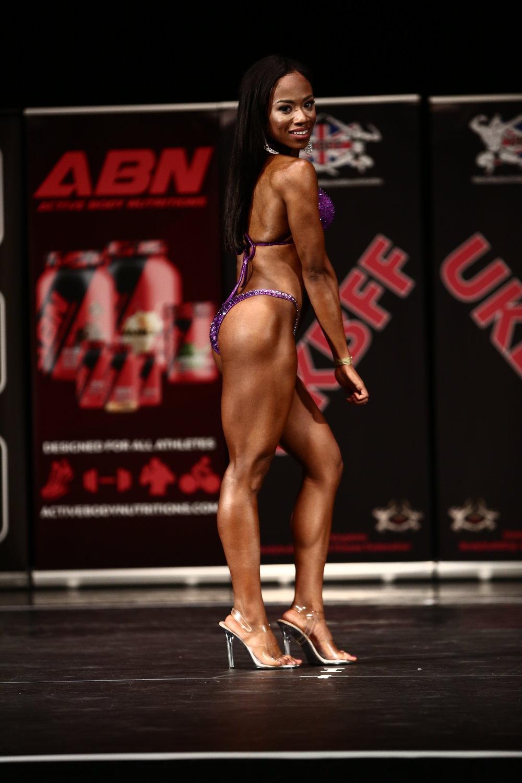 Dionne White, last year's up to 166 cm bikini fitness winner. PHOTO: Simon Howard