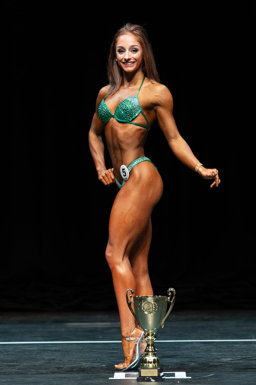 Junior bikini fitness champion Sarah Burdock.