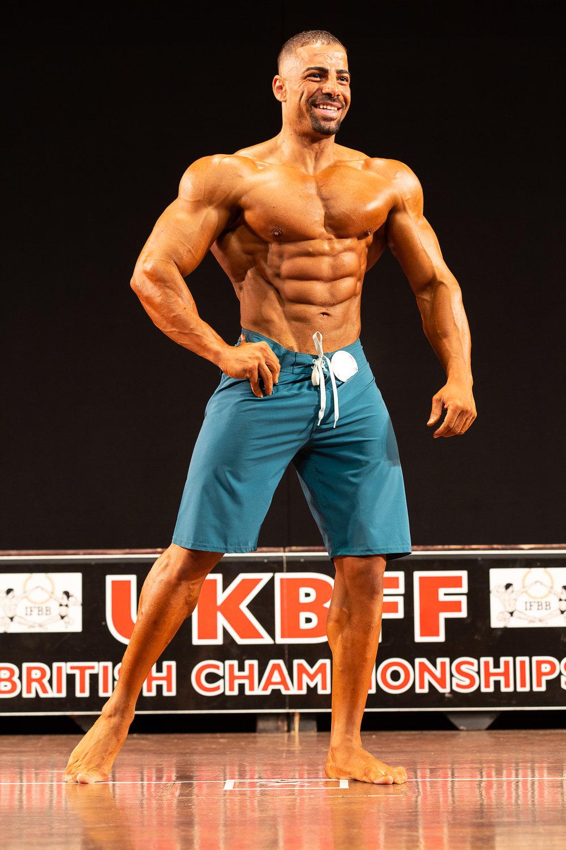 British muscular men's physique champion Mahmoud Elmawardy,