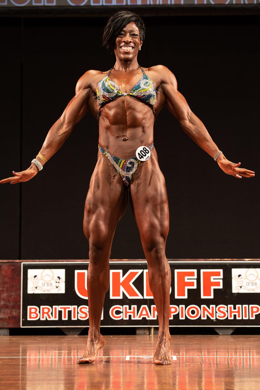 British women's physique champion Andrea Corbett.