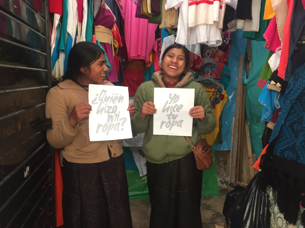 Sisters Susana & Claudia #remadeyourclothes. They laugh non stop, love to sing to country music and are natural business women. They´re 24 and 25 years old and hope to go back to school to be able to get a good paying job. They take care of their mom´s business and are always embroidering and making clothes.