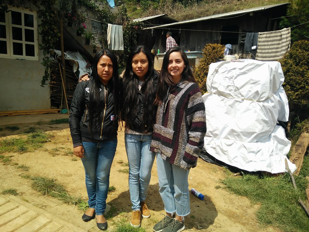 Edmunda and Erika pictured with Maria (right), our founder in Zongolica, Veracruz. Both are talented artisans working in their parents´ business and hope to go back to school. Which your purchase we´re able to pay them 4 times the minimum wage as well as contribute a percentage of the sales to the Project Landfeel fund for future educational opportunities.