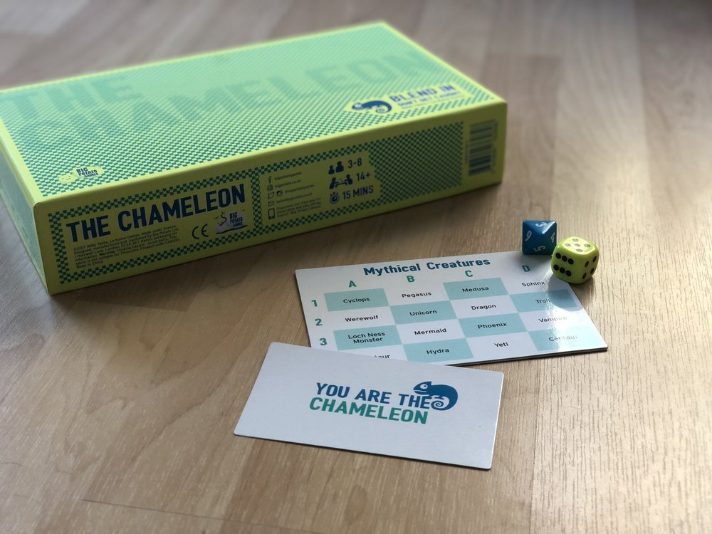 The Chameleon - a social deduction game for 3-8 players, by Big Potato Games