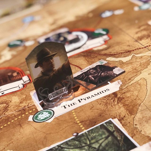 Eldritch Horror fans - who's your favourite character? ⠀⠀⠀⠀⠀⠀⠀⠀⠀ Jamie's current favourite is Tony Morgan, bounty hunter. Mine probably has to be Charlie Kane. We like to use him to kit up the team with goodies, and especially as he's usually the lead investigator, he nearly always gets into nightmarish scrapes and meets a sticky end 😂