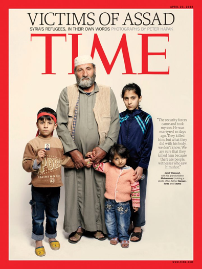 victims of assad - Time Magazine, April 12, 2012