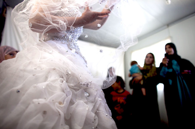a wedding dress in zaatari - The New Yorker, October 29, 2013