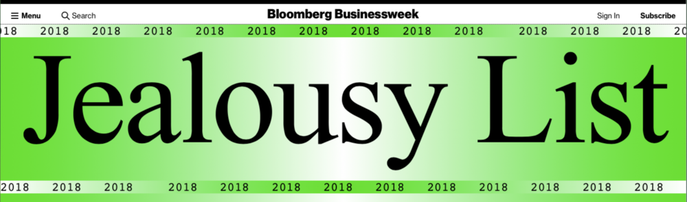 """Bloomberg businessweek's 2018 Jealousy list - """"No Turning Back is 'a heart-rending, on-the-ground epic (written) with the same verve, sensibility, and poetry that's always distinguished (Abouzeid's) magazine writing. It's a stunning achievement: the book I wish I could have written, if only I were as brave as her."""""""