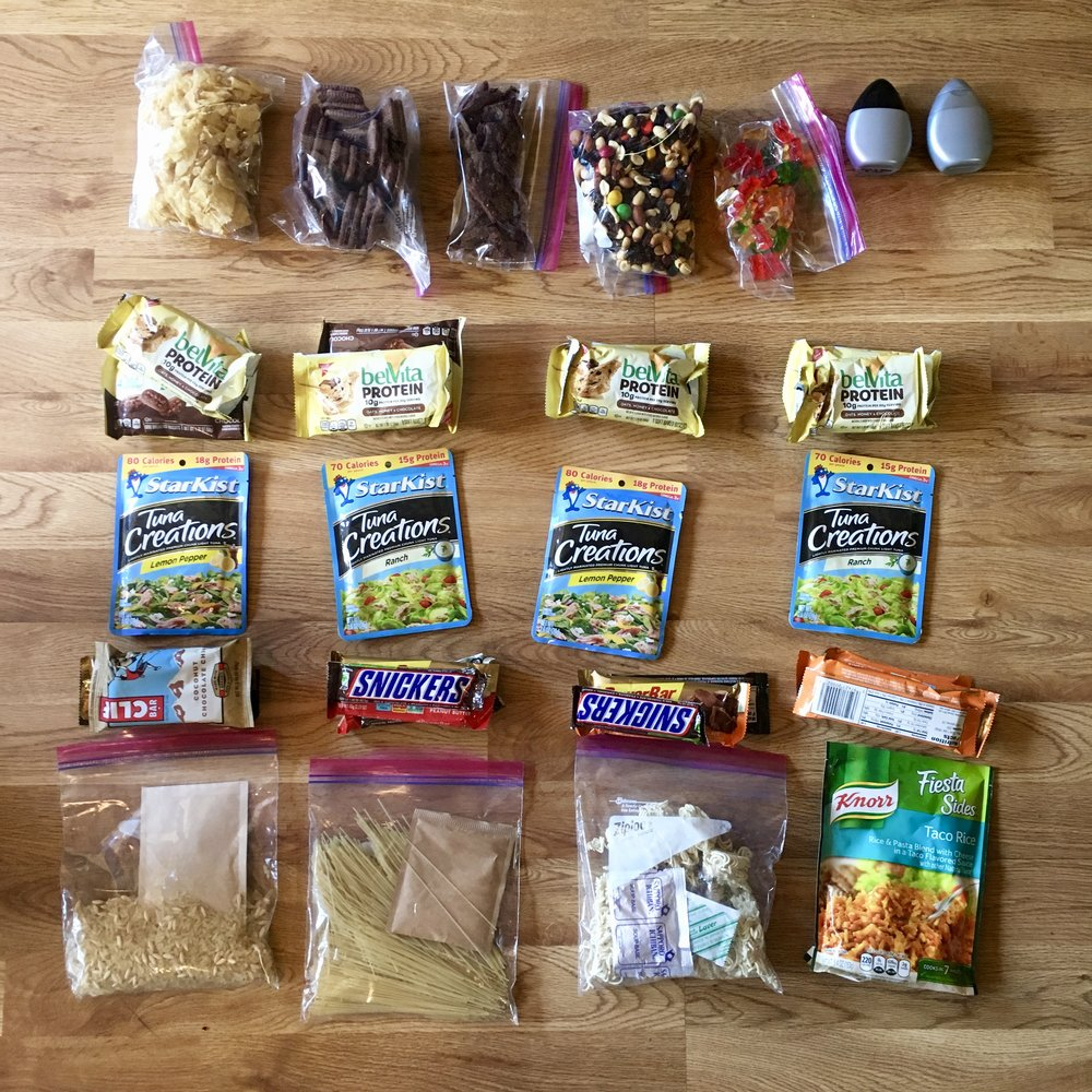 Four day food resupply that ended up not being enough to fuel me.