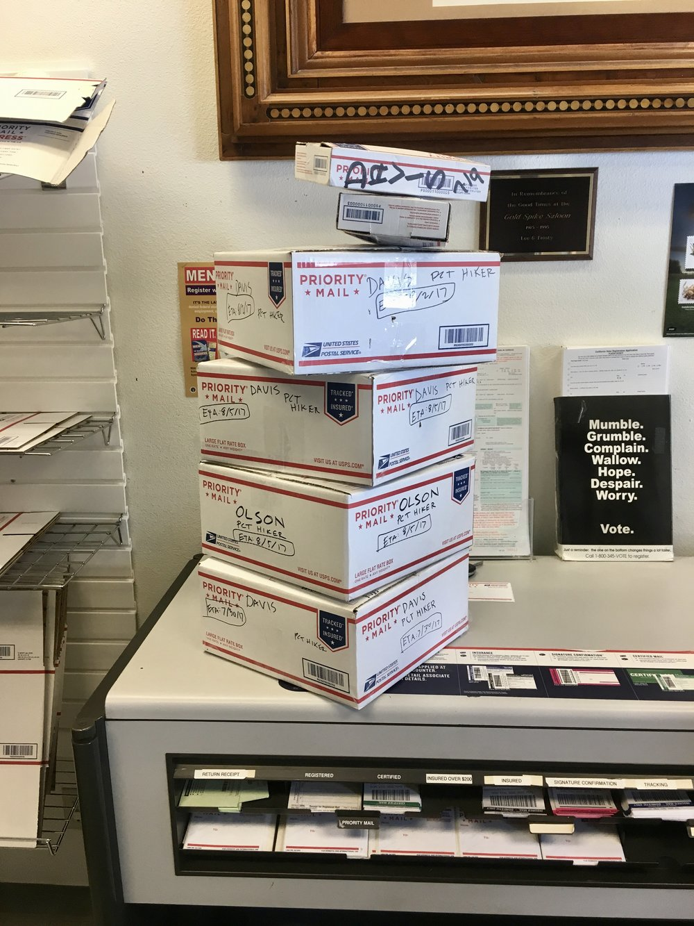 A productive trip to the Tahoe City post office