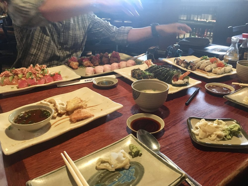 All-you-can-eat sushi in South Lake Tahoe. The boys and I had been talking about this for at least a week. We ate 20+ pieces each that day.