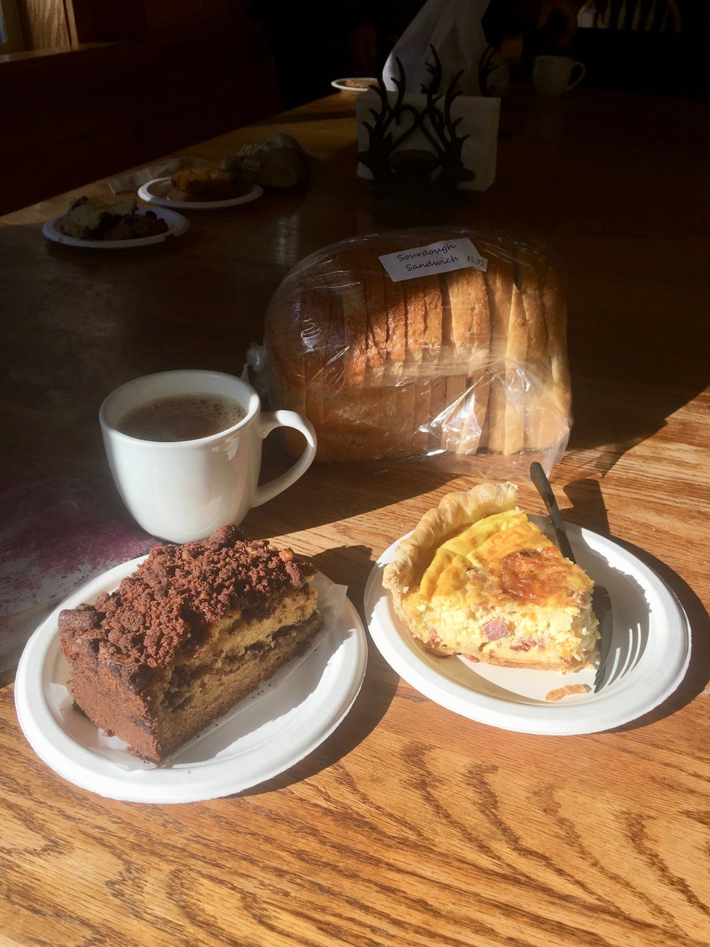My loot from the bakery in Stehekin, WA. I would return to Stehekin just for this bakery.