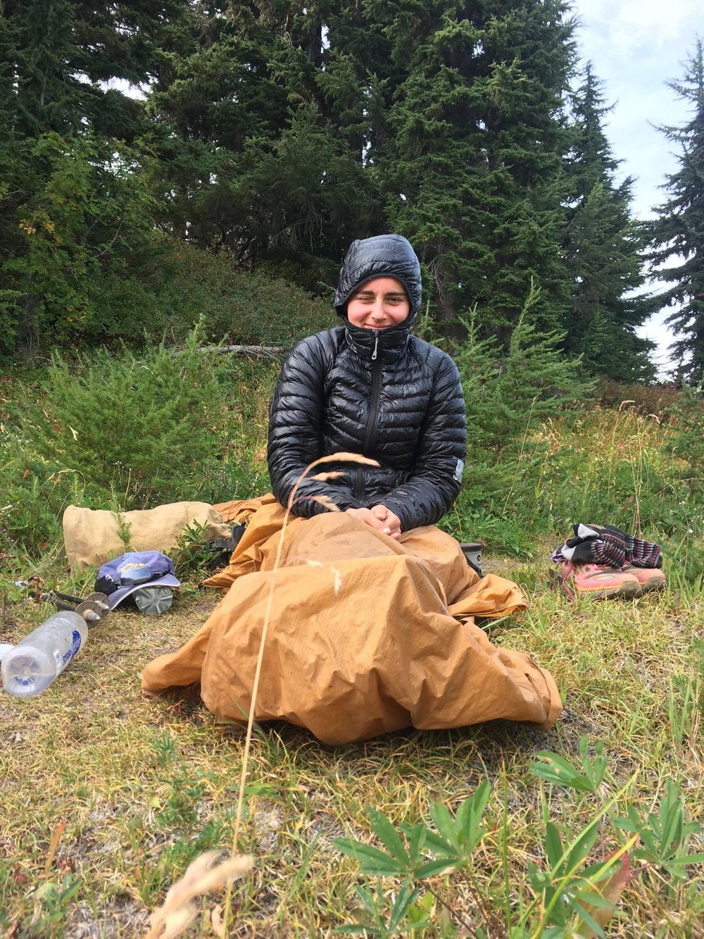 "This jacket is affectionately nicknamed  ""The Trashbag.""  In Washington, it's perfectly acceptable to take naps at lunch and use your ground sheet as a blanket."