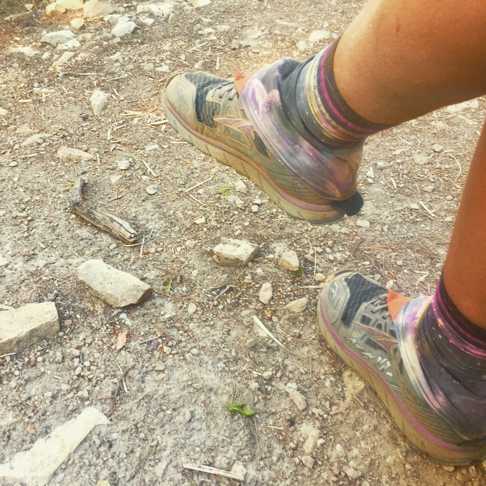 Although my feet were in distress in NorCal, they were stylin'.