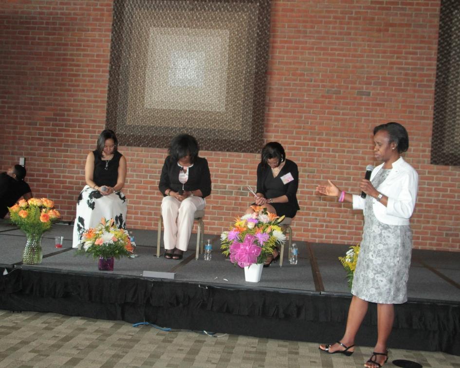 Pastor Funmi blesses speakers