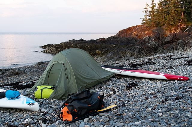 It's full on winter now... time to start planning for next summer, or maybe a little winter sup adventure? (This campsite looks nice right? Actually the worst island on the Maine coast 👎 A photo can be a little deceiving...)