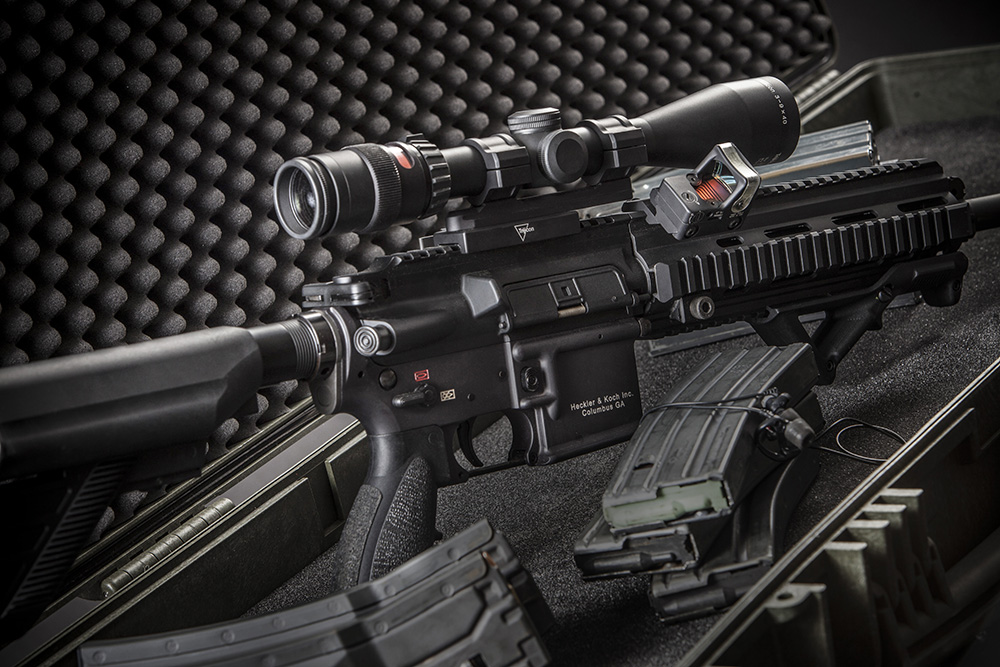 Trijicon Rifle Scope and a slant mounted RMR